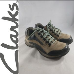 CLARKS SPRINGERS CASUAL LACEUP COMFORT WALKING 6.5